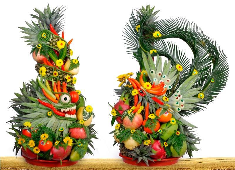 Kết rồng phụng trái cây đúng với truyền thống 2