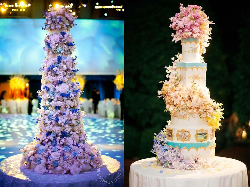 Tìm bánh cưới hoa tươi nhiều tầng đẹp mắt ở đâu 1