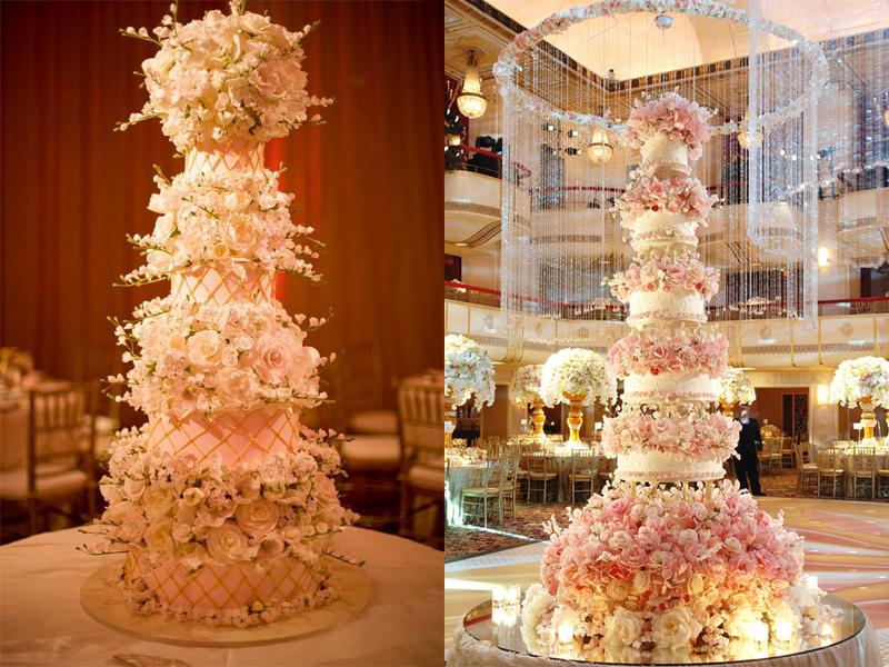 Tìm bánh cưới hoa tươi nhiều tầng đẹp mắt ở đâu