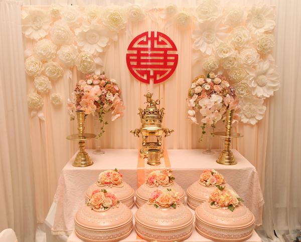 4 yêu cầu khi trang trí bàn thờ gia tiên trong ngày cưới 2
